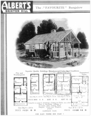 "A page from ""Albert's"" catalogue of building kits from the 1930s. One of these kits was used to the build the plotland chalet ""Eleanor"" on the Berry Park Estate, Essex."